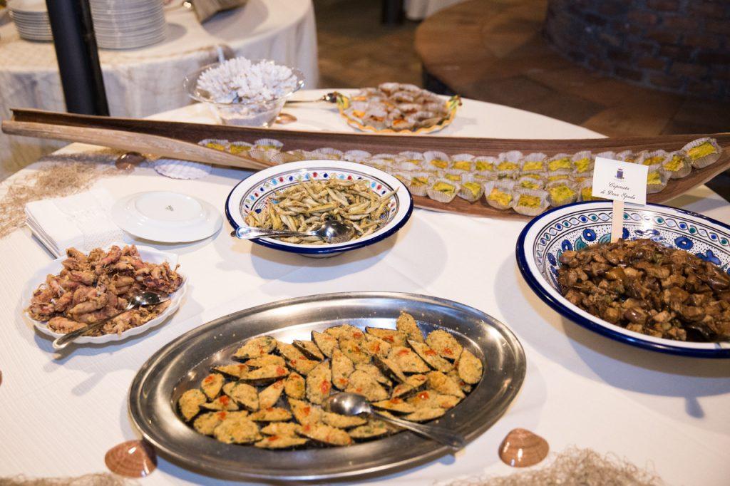 Villa Giuffrida: Buffet a base di pesce