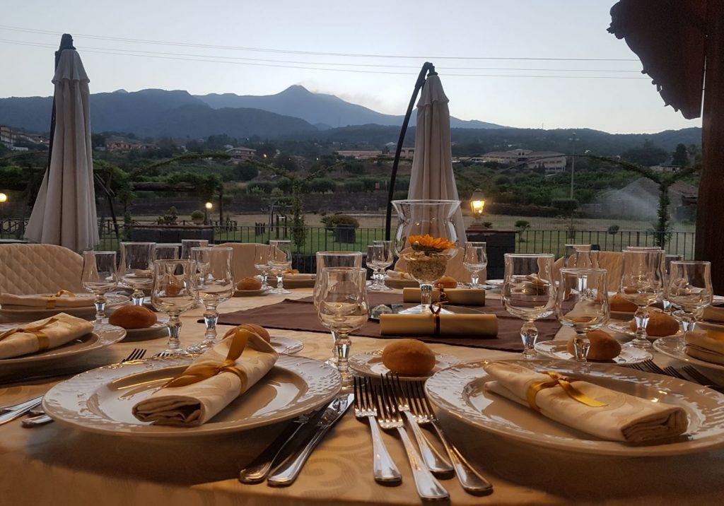 Villa giuffrida La vista sull'Etna
