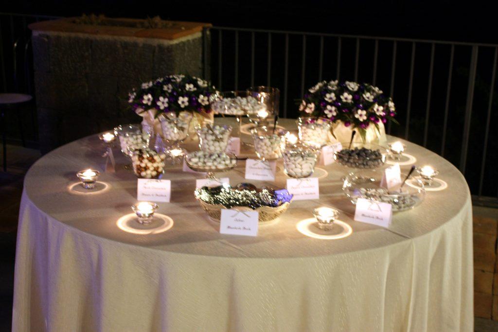 Villa Giuffrida Zafferana Etnea tavolo della confettata